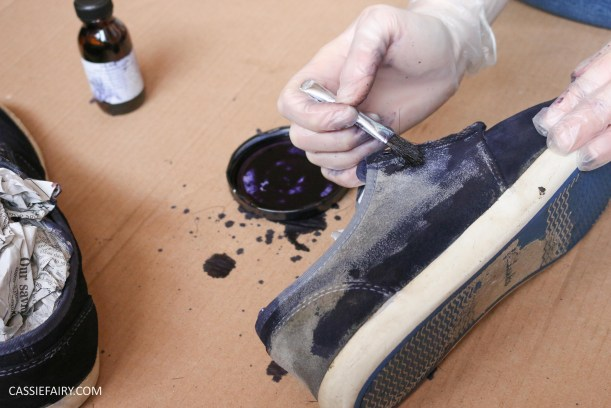 renovate-old-suede-shoes-trainers-makeover-diy-customising-dying-shoes-tutorial-video-8