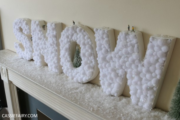 cassiefairy-thrifty-christmas-snow-sign-project-diy-mantlepiece-christmas-decoration-festive-decor-21