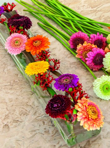 Step 3 Gerbera table centre - photo credit to Polly Eltes