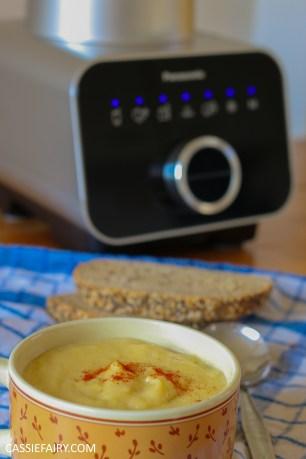 creamy corn sweetcorn soup lunch vegetable blender recipe-15