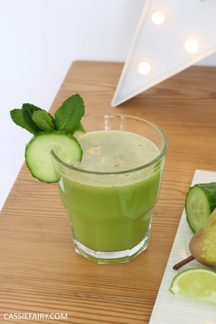 juicing herbs - juice recipe apple pear cucumber mint lime -12