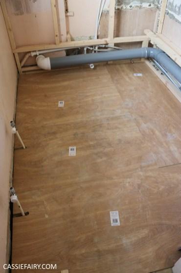 bathroom remodelling renovation makeover decorating project before tiles shower-13
