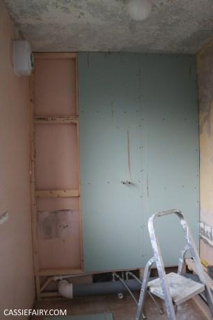 bathroom remodelling renovation makeover decorating project before tiles shower-15