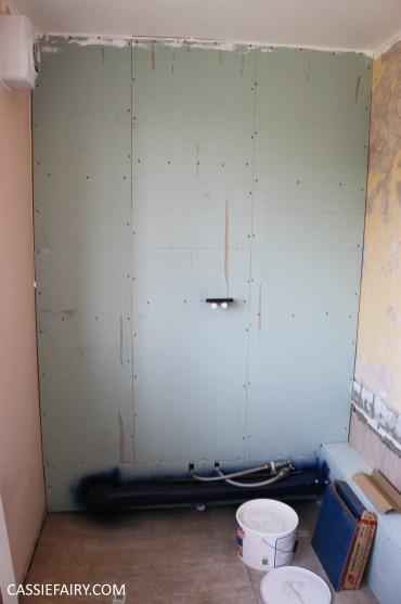 bathroom remodelling renovation makeover decorating project before tiles shower-17