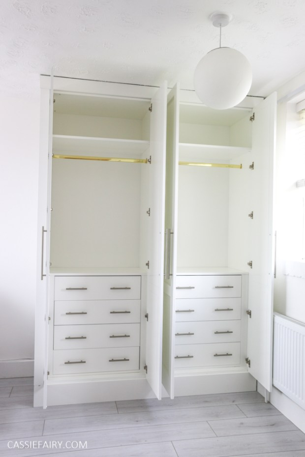 My minimalist bedroom makeover - DIY fitted wardrobes