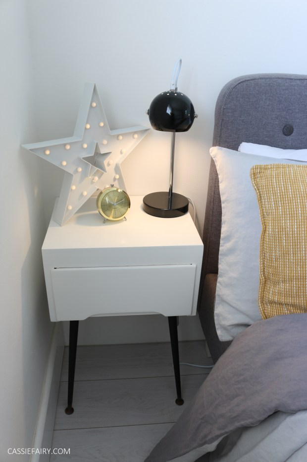 Thrifty diy upcycling project how to make your own mid for Make your own bedside table