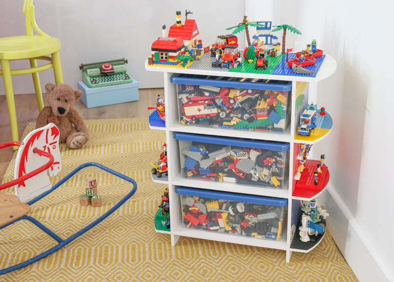 DIY Upcycled toy storage unit & play table