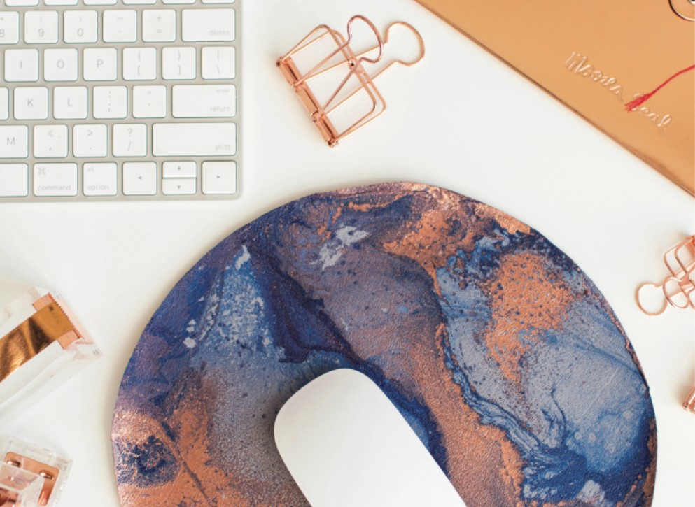 "DIY Marbled leather mouse mat + WIN a copy of ""Make Yourself At Home"""