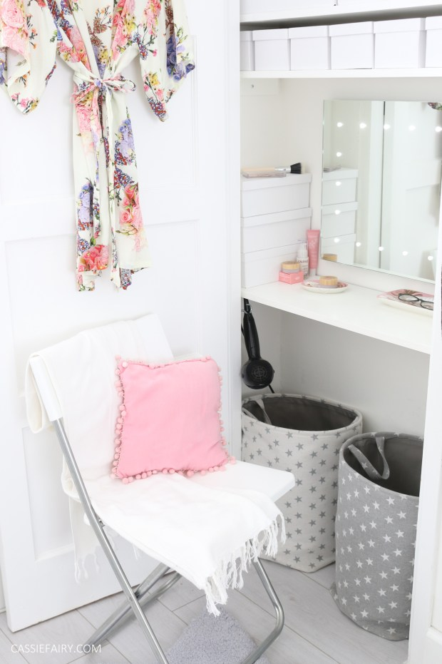 How To Diy An Alcove Dressing Table The Finished Project
