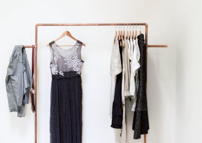 How to DIY a copper pipe garment rack + interiors book giveaway