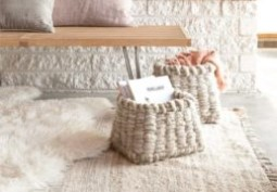 How to make a chunky woven storage box + win a copy of Weaving Within Reach!