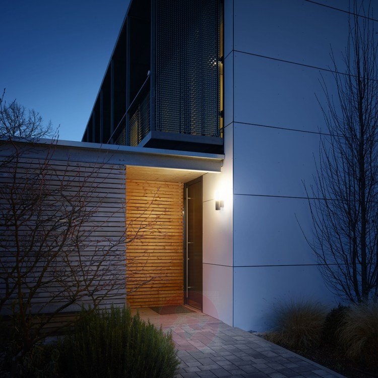 exterior of a home illuminated by an LED outdoor light