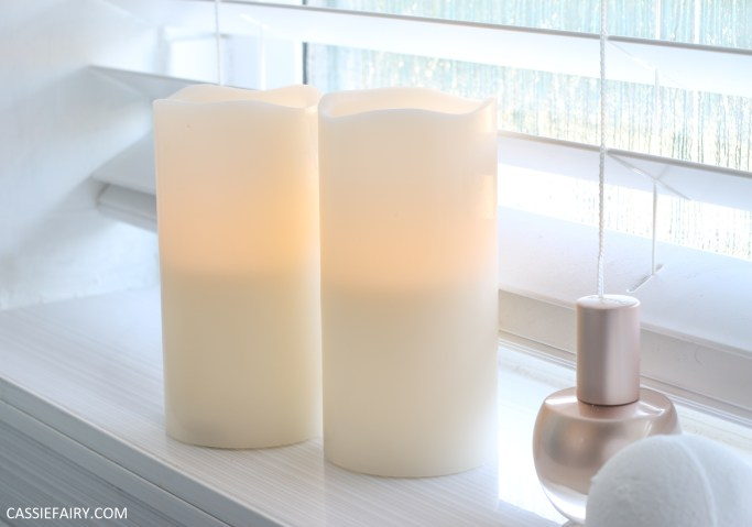 candles in bathroom