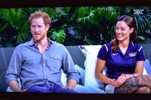 Marks with Prince Harry
