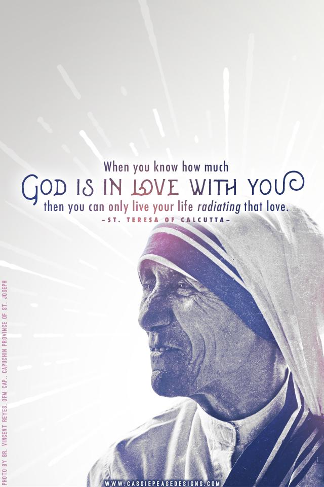 Mother Teresa Radiating Love Mobile Wallpaper  Cassie