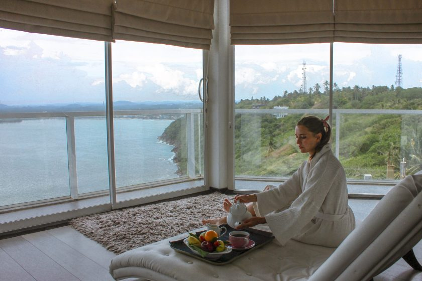 The beautiful view from Cantaloupe Levels, a small boutique hotel on the South Coast of Sri Lanka
