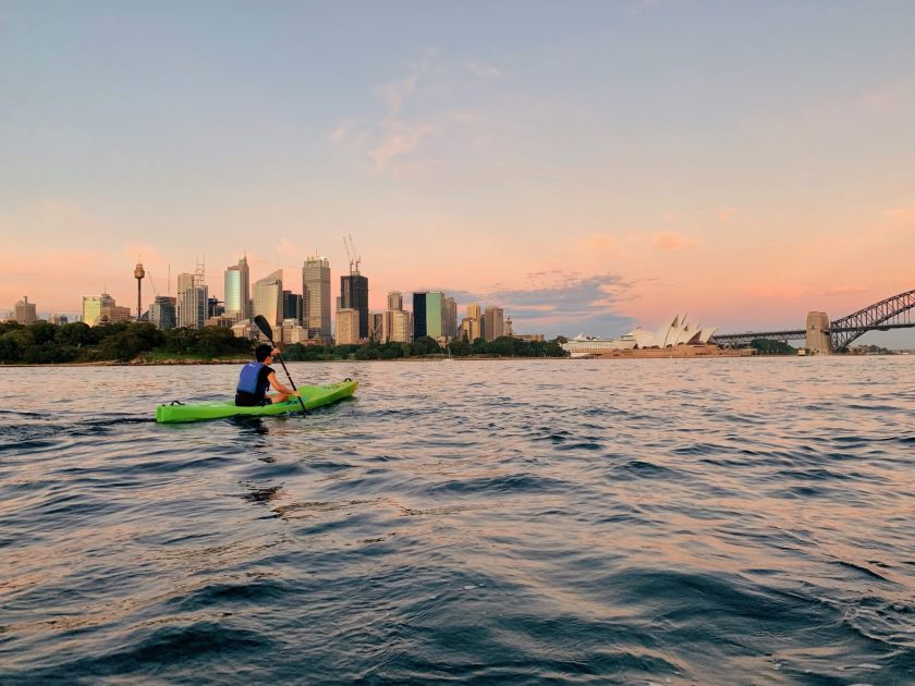 Kayaking around the Sydney Harbour is one of the best things to do in Sydney