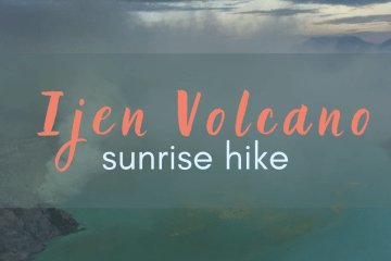 mt ijen volcano sunrise hike