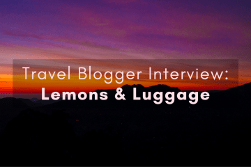 Travel blogger interview with Lemons and Luggage - diversity in travel series