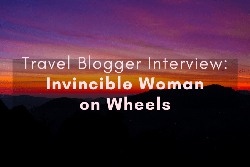 travel blogger interview - travelling with a disability
