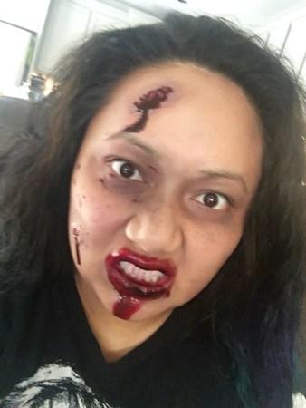 walker, bloody walker, the walking dead, halloween, halloween makeup, makeup monday, cassie wears what, cassiewearswhat.com
