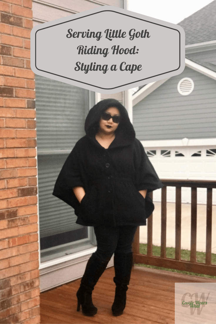 I've been dying to get a cape, but I wasn't sure how to style it. Sudden inspiration helped me create my favorite outfit so far. Check it out at Cassie Wears What!