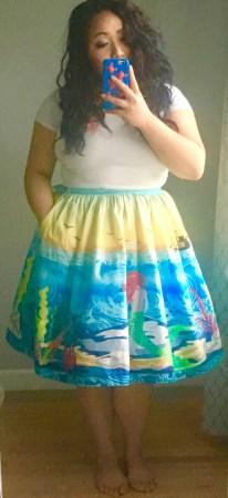 mermaid, mermaid skirt, cassie wears what, cassiewearswhat.com