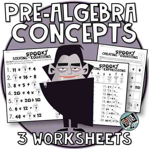 small resolution of Halloween Math 4th \u0026 5th grade algebra skills Evaluating Expressions