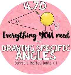 4 7 d drawing angles with given measures using a protractor 4th grade teks kit 4 7d [ 2250 x 2250 Pixel ]