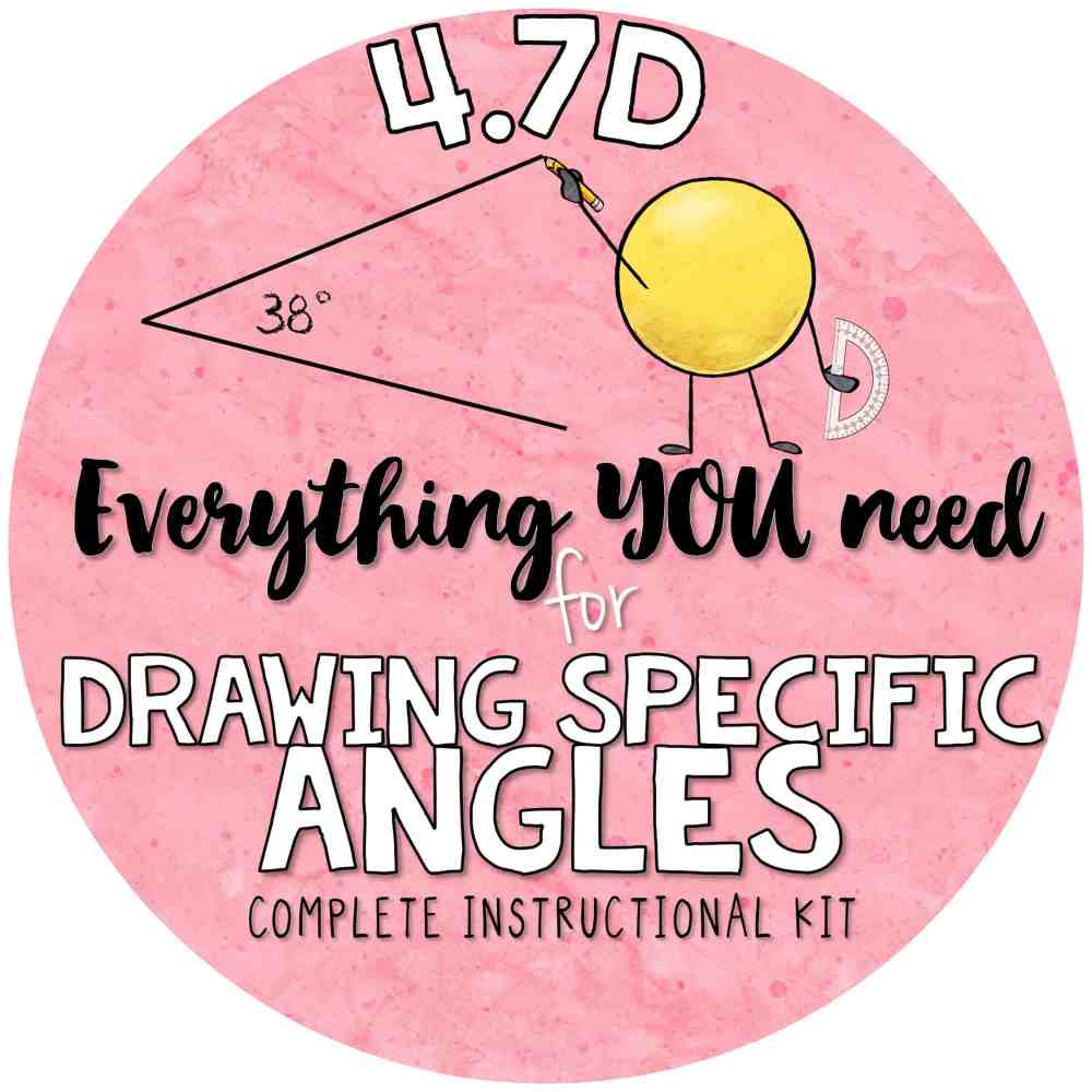medium resolution of 4 7 d drawing angles with given measures using a protractor 4th grade teks kit 4 7d