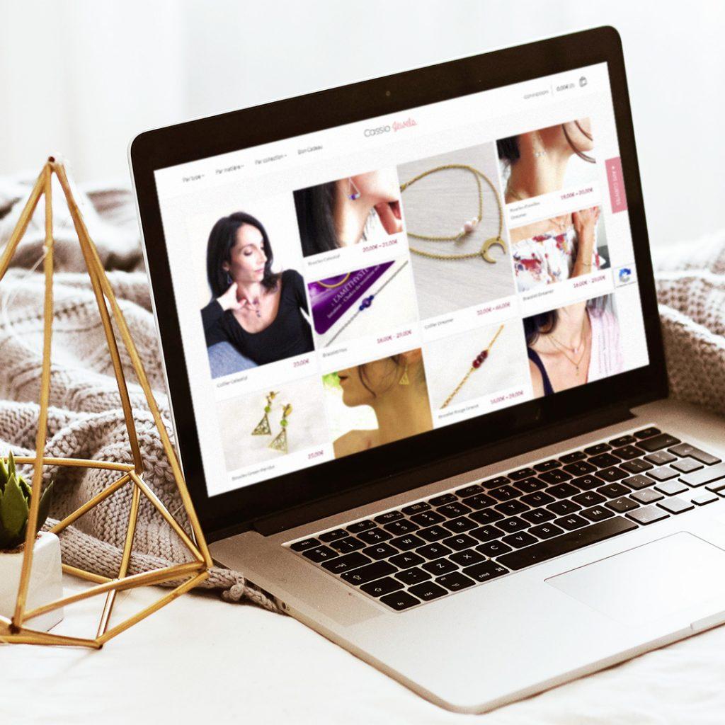 Site e-commerce Cassio Jewels - Boutique de bijoux