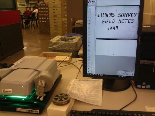 illinois federal surveyor field notes microfilm microforms