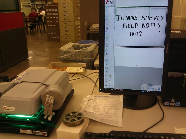 illinois federal surveyor field notes microfilm microforms