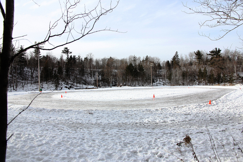 Duluth Area Speedskating Club oval in prep