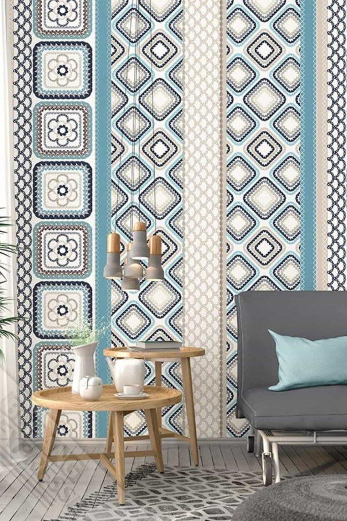 retro behang vintage interieur