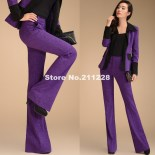 2013-Spring-Autumn-Fashion-Formal-Womens-High-Waist-Flare-Purple-Trousers-Woman-Casual-Wide-Leg-Pants