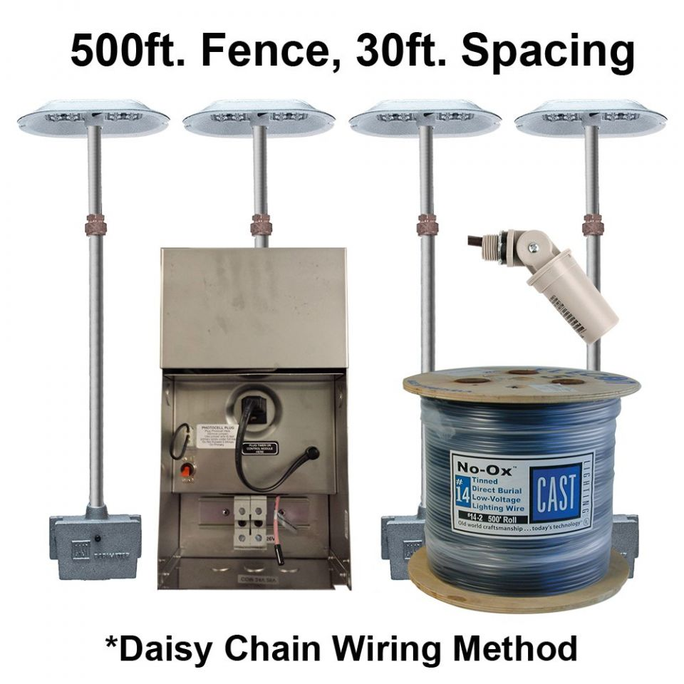 medium resolution of cpl3 kit 500ft fence 30ft spacing 120v daisy chain wiring