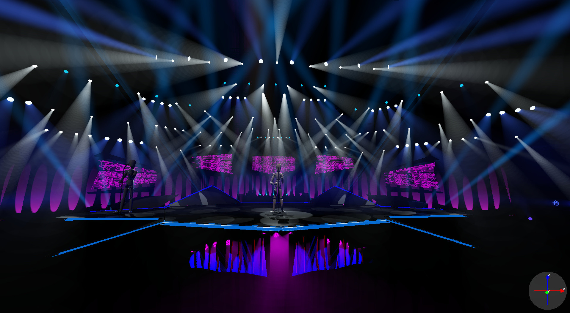 Wysiwyg perfects lighting on multisize stages at Melody