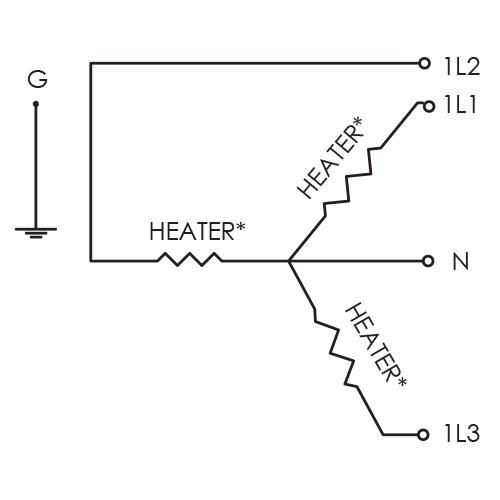 three phase heater wiring diagram