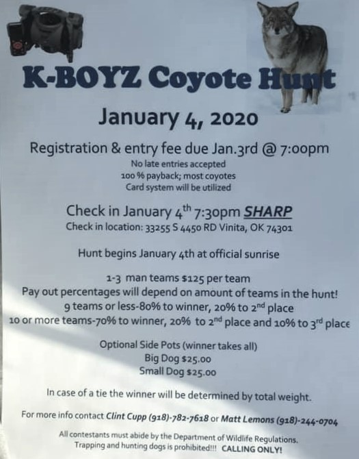 K Boyz Coyote Hunt Cast And Bang Outfitters Llc