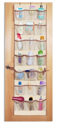 Organizing Small Spaces with over-the-door shoe organizers ...