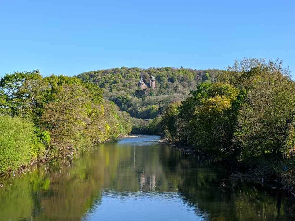 Castell Coch and the River Taff