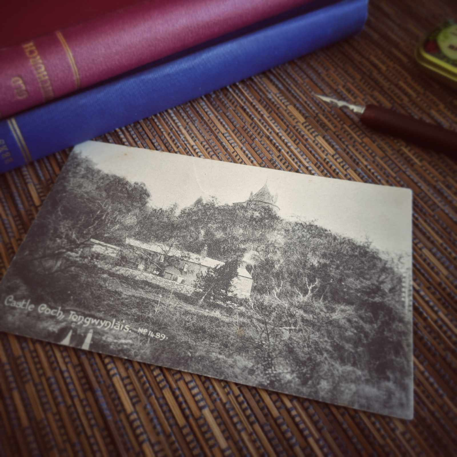 Old postcard with image of Castell Coch