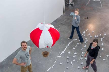 La mongolfiera prende il volo - Fotografia di Ottavio Tomasini