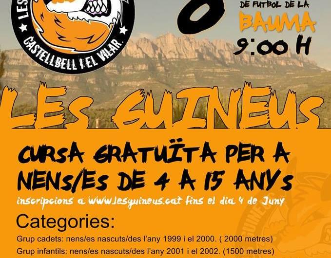Aquest diumenge cursa infantil de les guineus a Castellbell i el Vilar
