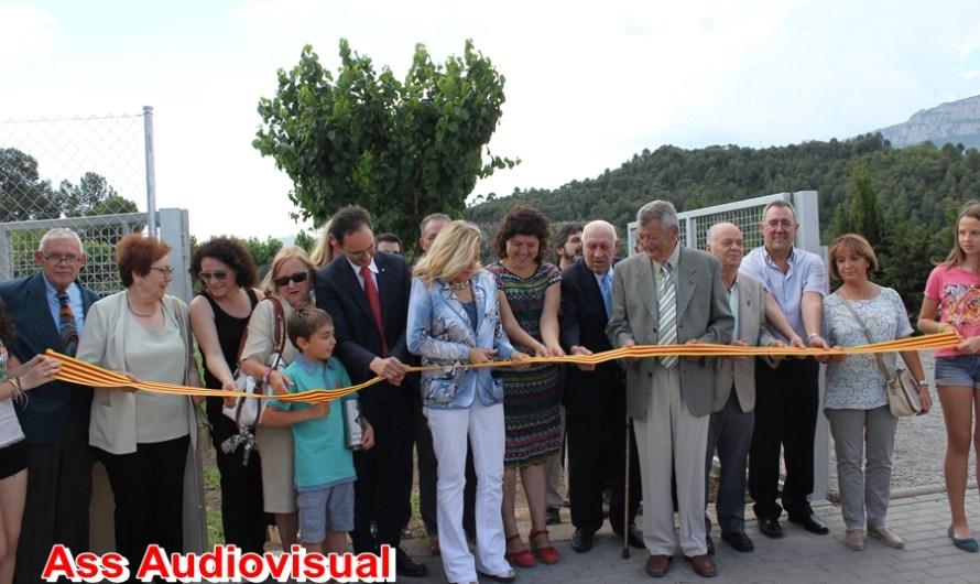 Visita de la vicepresidenta de la Generalitat de Catalunya Joana Ortega a Castellbell i el Vilar .