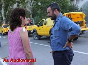 L´Alcaldessa de Castellbell i el Vilar ha estat informada  de la situació pels Bombers de la Generalitat de Catalunya