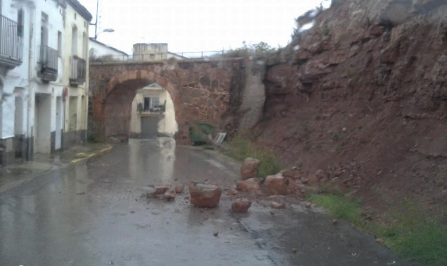 Les plujes d'aquest diumenge causen una esllevissada a la Bauma