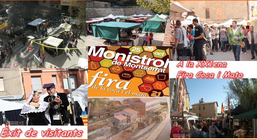 Èxit de visitants a la fira de la coca i el mató de Monistrol de Montserrat