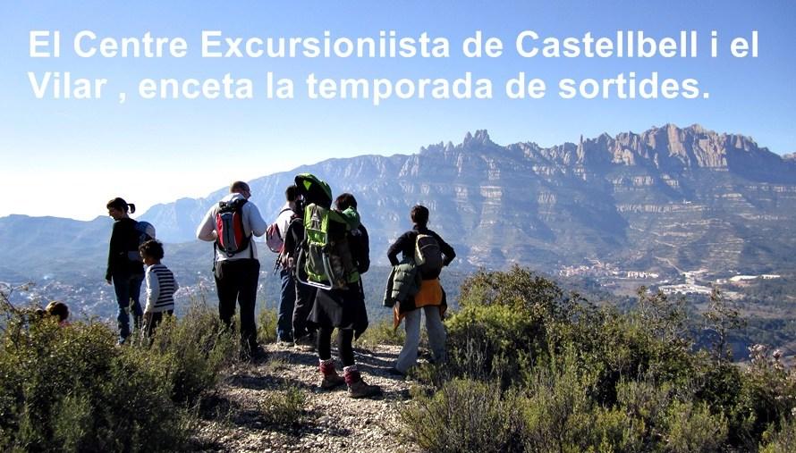 El Centre excursionista de Castellbell i el Vilar, enceta la temporada de sortides.